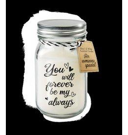 Paper Dreams Black & White Geurkaars - Forever be my always