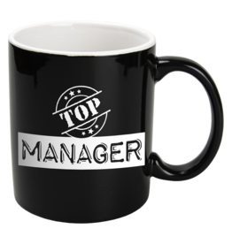Paper Dreams Black & White Mok – Top Manager , Zwart