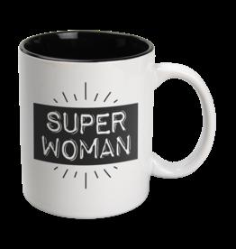 Paper Dreams Black & White Mok - Superwoman , Wit