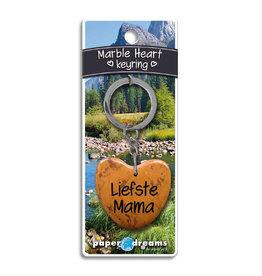 Paper Dreams Sleutelhanger Hart Marmer - Liefste Mama