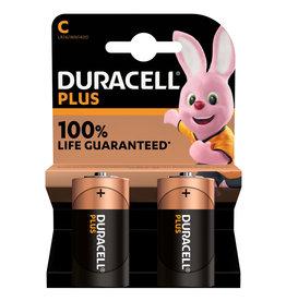 Duracell Duracell  Plus Alkaline batterij  C 1.5V  2-pack