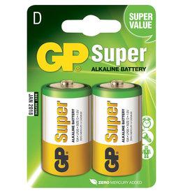 GP GP Batterij  Super Alkaline D   1.5V  2-pack