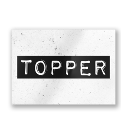 Paper Dreams Black & White Ansichtkaart - Topper