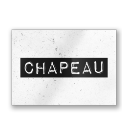 Paper Dreams Black & White Ansichtkaart - Chapeau
