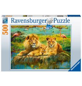 Ravensburger Ravensburger puzzel 165841 Leeuwen in de Savanne 500 stukjes