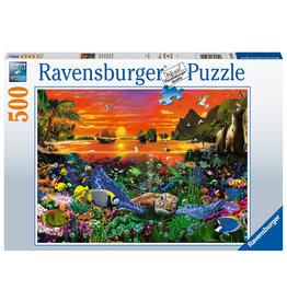 Ravensburger Ravensburger Puzzel 165902 Schildpadden in het Rif 500 stukjes