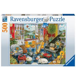 Ravensburger Ravensburger Puzzel 168361 De Muziekkamer 500 stukje