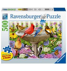 Ravensburger Ravensburger Puzzel 167937 Bij het Vogelbadje 500 stukjes XXL