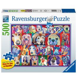 Ravensburger Ravensburger Puzzel 167944 Kleurrijke Honden 500 stukjes XXL