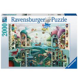 Ravensburger Ravensburger Puzzel 168231 Als vissen konden lopen (If Fish could Walk) 2000 stukjes