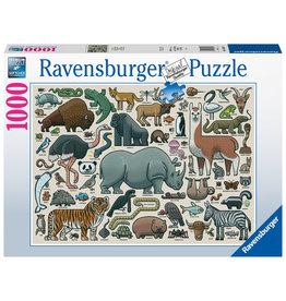 Ravensburger Ravensburger Puzzel 168071 Wilde Dieren 1000 stukjes