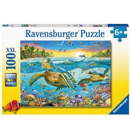 Ravensburger Ravensburger Puzzel 129423 Zeeschildpadden 100 stukjes XXL