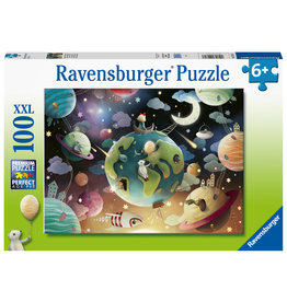 Ravensburger Ravensburger Puzzel 129713 Fantasie Planeten 100 stukjes XXL