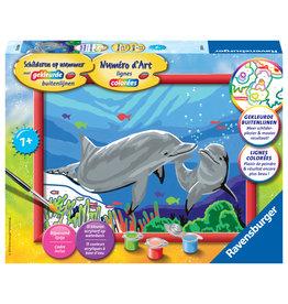 Ravensburger Schilderen op nummer 286164 Dolfijnen