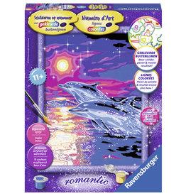 Ravensburger Schilderen op nummer 286256 Dolfijnen in Zonsondergang