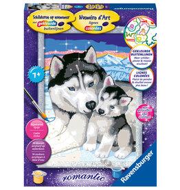 Ravensburger Schilderen op nummer 289257 Huskies