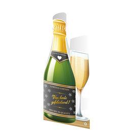 Paper Dreams Champagne Kaart - Gefeliciteerd