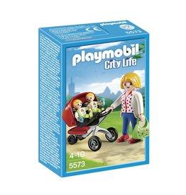 Playmobil Playmobil City Life 5573 Tweeling Kinderwagen