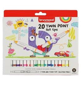 Bruynzeel 20 Viltstiften Twin Point 5+