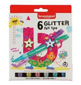 Bruynzeel Bruynzeel Viltstiften Glitter 6stuks 5+