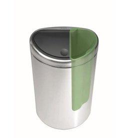 Brabantia Afvalscheidingprullenbakken Brabantia Touch Bin Recycle Prullenbak - 10+23 l - Matt Steel Fingerprint Proof