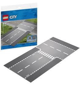 LEGO Lego City 60236 Rechte Wegenplaat en T-splitsing