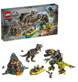 LEGO Lego Jurassic World 75938 T. Rex vs. Dinomecha gevecht - T-Rex Vs Dino Mech Battle