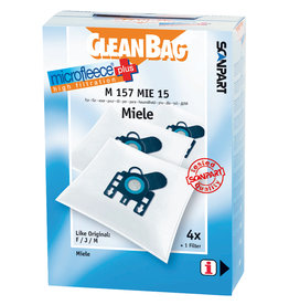 Cleanbag Stofzuigerzak Cleanbag M157MIE15   Miele FJM 4stuks+1 filter