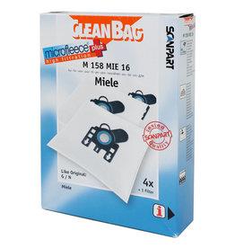 Cleanbag Stofzuigerzak Cleanbag M158MIE16  Miele GHN  4 stuks + 1 filter
