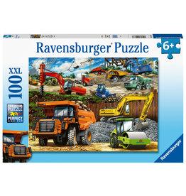 Ravensburger Ravensburger Puzzel XXL Bouwvoertuigen 100 stukjes