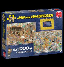 Jumbo Jumbo Puzzel Jan van Haasteren 20052 Dagje Museum  2x1000 stukjes