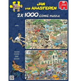 Jumbo Jumbo Puzzel Jan van Haasteren 19001 Safari & Storm 2x 1000 stukjes