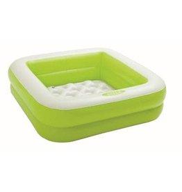 Intex Intex Play Box Pool 85x85x23cm - zwembad vierkant  groen/wit