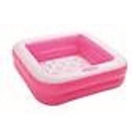 Intex Intex Play Box Pool 85x85x23cm - zwembad vierkant  roze/wit