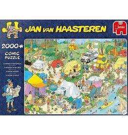 Jumbo Jumbo Puzzel Jan van Haasteren  19087 Kamperen in het Bos 2000 stukjes
