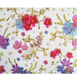 Tafelzeil 140cm breed Bloemen