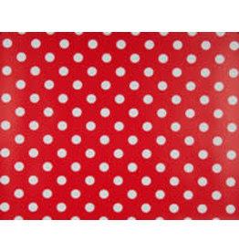 Tafelzeil Polka Dot -  Rood met witte stippen