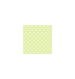 Ambiente Ambiente Servetten  33x33 cm Groen met witte stippen