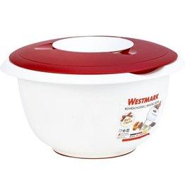 Westmark Westmark Mengkom met Tweedelig Deksel, 3.5 l, Rood