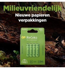 GP ReCyko GP Recyko AAA  950mAh 4pack  pre-charged