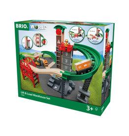 Brio Brio World 33887 Groot Magazijn met Lift - Lift & Load Warehouse