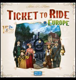 Days of Wonder Ticket to Ride Europe 15th Anniversary EN  Limited edition - Bordspel