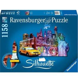 Ravensburger Ravensburger puzzel 161539 Silhouettte Skyline, New York - 1158 stukjes