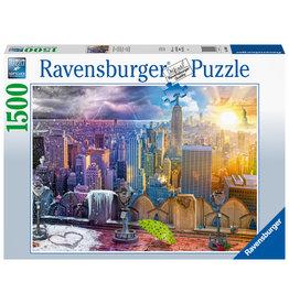 Ravensburger Ravensburger puzzel 160082 New York 's winters en zomers 1500 stukjes