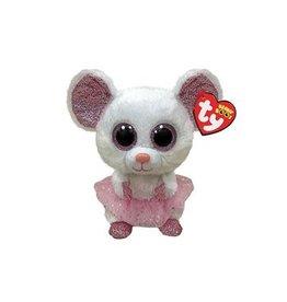 Ty Ty Beanie Boo's Nina de witte Muis 15cm