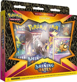 The Pokemon Company Pokémon TCG Shining Fates Mad Party Pin Collection  Dedenne