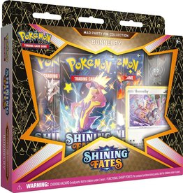 The Pokemon Company Pokémon TCG Shining Fates Mad Party Pin Collection Bunnelby