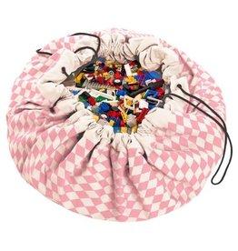 Play & go Play & Go Speelkleed/Opbergzak - Pink Diamonds - 140cm