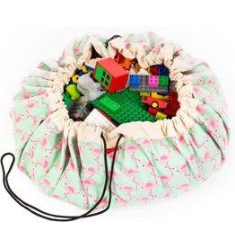 Play & go Play & Go Speelkleed/Opbergzak - Flamingo - 140cm