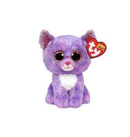 Ty Ty Beanie Boo's Cassidy de Blauw/Roze Kat 15cm